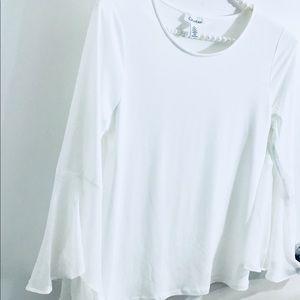 Calvin Klein long bell sleeves top